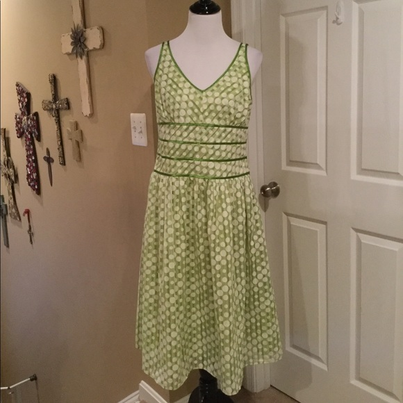 d175f23376f Cato Dresses   Skirts - Cato Green and White Polka Dot Dress
